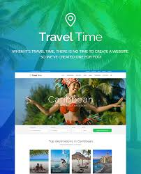 travel time tour hotel and vacation travel theme by