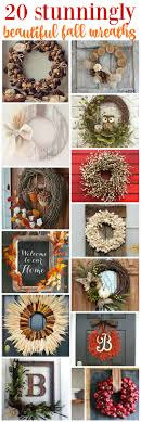 20 stunningly beautiful diy fall wreaths the happy housie