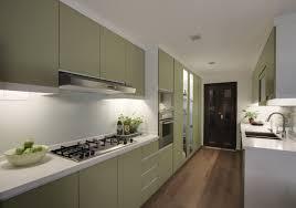 Kitchen Galley Green Normabudden Com