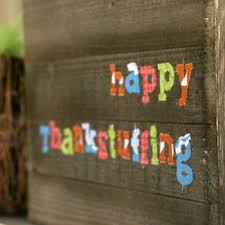 happy thankstuffing fabric sign made with the cricut maker dukes