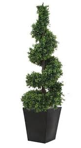 Topiaries Plants - outdoor topiary pic spiral from red plants artificial