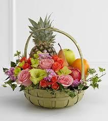 fruit basket arrangements the ftd rest in peace fruit flowers basket in highlands ranch co