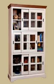 Sliding Door Bookcase North American Bookcase Collection