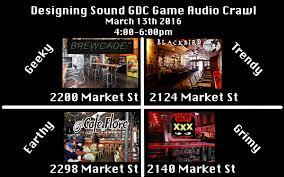 gdc themed events designing sound gdc game audio crawl