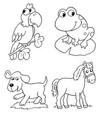 animals color coloring pages kids