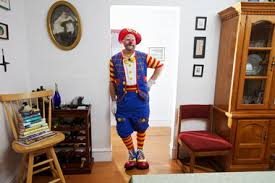 birthday clowns it tougher than you think i ll take that portland s b j the clown is serious about kids laugh