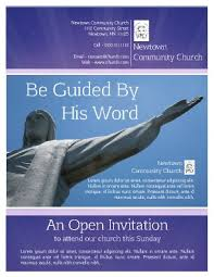 church flyer templates pageprodigy u2013 print for 1