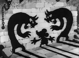 black and white vintage halloween images the mad doctor 1933 creepy mickey and minnie pinterest