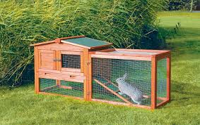 Home Made Rabbit Hutches Amazon Com Trixie Pet Products Rabbit Hutch With Outdoor Run