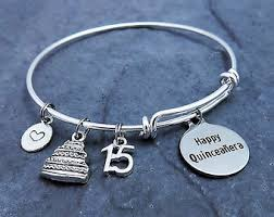 Birthday Charm Bracelet Custom Charm Bracelet Expandable Bangle Customize Your Own