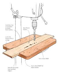 Drill Press Table Drill Press Table With A Sacrificial Insert Finewoodworking