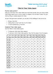 times tables square teach my kids