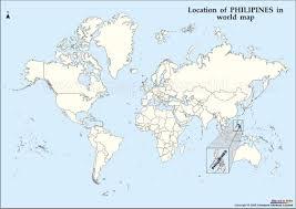 Philippines On World Map by Philipines Location Map U2022 Mapsof Net