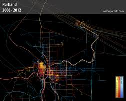 Gps Map Everywhere I U0027ve Been Data Portraits Powered By 3 5 Years Of