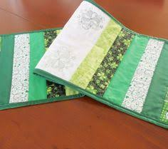 st patrick s day table runner quilted shamrock centerpiece vintage look st patrick s day table