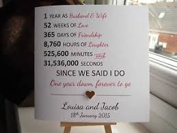 1st year wedding anniversary handmade personalised 1st year wedding anniversary card