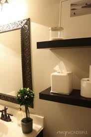 Powder Room Paint Quick Powder Room Makeover Crazy Wonderful