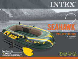 boats u0026 water sports walmart com intex inflatable seahawk 2 two person boat with oars and pump
