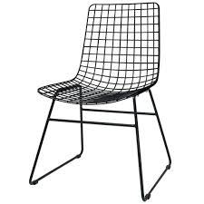 Black Metal Chairs Dining Black Metal Dining Chair With Wire Back And Seat Idea Of Trendy