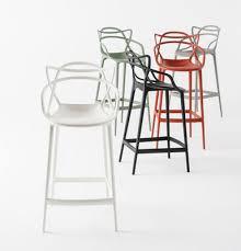 chaise de bar masters bar chair h 65 cm polypropylen green by kartell