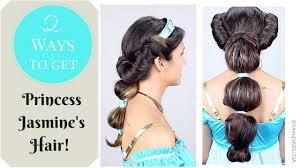 princess jasmine halloween 2 ways to get princess jasmine u0027s hair youtube