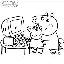 peppa pig 79 cartoons u2013 printable coloring pages