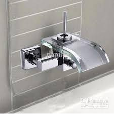 wall mount glass sink 2018 single handle widespread wall mount bathroom vessel sink faucet