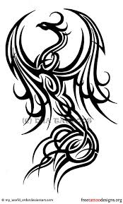 tribal phoenix tattoo designs phoenix tattoos designs