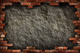 Dark Brick Wall Background Grungy Dark Gray Concrete Wall In Red Brick Frame Conceptual