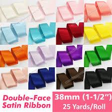 sided ribbon 25 yards high quality 38mm satin ribbon 100