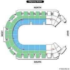 odyssey floor plan odyssey arena seating charts