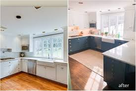 white cabinets on top blue on bottom blue and white two toned kitchen cabinets tucker