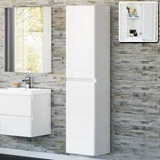 white high gloss bathroom wall cupboard bathroom cabinets