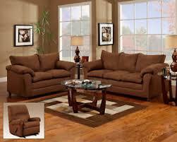 Chocolate Living Room Set Chocolate Brown Sofa Seat Reclining Chair 3 Living