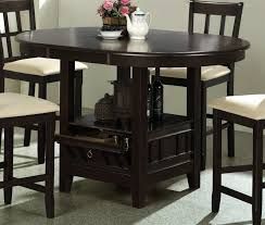 counter height table with chairs 5 piece round counter height table set in dark cherry finish by
