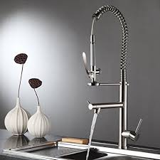 fapully touch on kitchen sink faucet commercial pull down pre