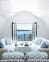 Blue And White Living Room Decorating Ideas Lake Muskoka Cottage With Coastal Interiors Home Bunch