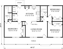 Garden Home House Plans Open Ranch Floor Plans For 3 Bedroom 2 Bath Homecar Garage Open