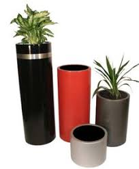 Tall Plastic Planters by Cube Planters Planters Modern And Patios