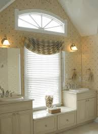white horizontal blinds white sink cabinet with marbled top round