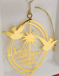 gold plated christmas ornaments a light shall shine 24k gold plated christmas ornament tamerlane