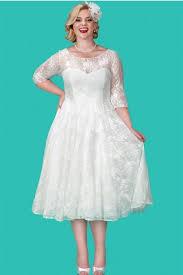 sydneys closet sc5212 plus size tea length wedding dress french