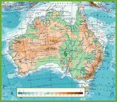 Physical Map Of South America Rivers by Physical Map Of Australia