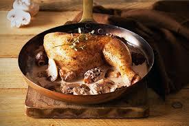 cuisiner un poulet de bresse poulet aux morilles