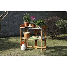 Galvanized Outdoor Chairs Patio Wise Folding Potting U0026 Gardening Table With Steel Top