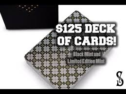 black mint and limited edition mint worlds most expensive deck