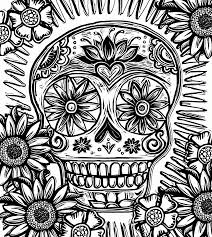 sugar skull coloring pages for kids and for adults coloring home