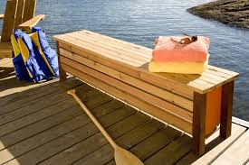 Free Storage Bench Plans by Easy To Build Dock Storage Bench