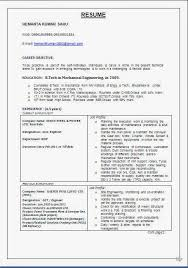 Best Resume For Mechanical Engineer Fresher by What Is The Format Of A Resume Best Corporate Sector Cv Format