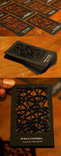 Interior Design Businesses by Intricate Laser Cut Black Business Card For An Interior Designer
